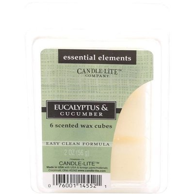 Candle-lite Essential Elements Wax Melts Essential Oil 2 oz 56 g - Eucalyptus & Cucumber