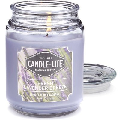Candle-lite Everyday large scented candle in a glass jar 18 oz 510 g - Fresh Lavender Breeze
