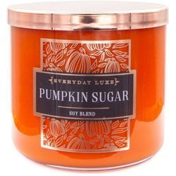 Colonial Candle Luxe large soy scented candle 3 wicks 14.5 oz 411 g - Pumpkin Sugar