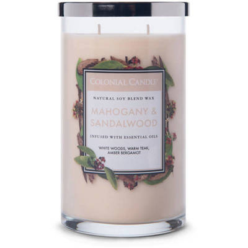 Colonial Candle large scented jar candle 18 oz 510 g - Mahogany & Sandalwood