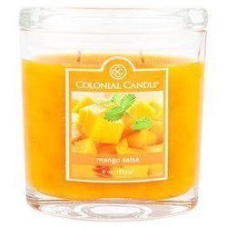 Colonial Candle medium scented oval jar candle 8 oz 226 g - Mango Salsa