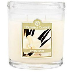 Colonial Candle medium scented oval jar candle 8 oz 226 g - Simply Vanilla