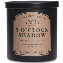 Colonial Candle soy scented candle black 16.5 oz 467 g - 5 o'Clock Shadow