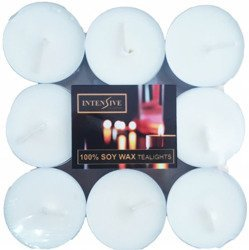 INTENSIVE COLLECTION pure soy wax unscented tealights 9 pcs