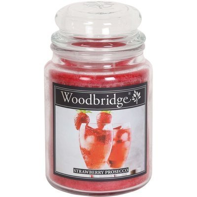 Woodbridge Scented Candle Large Jar 2 wicks 565 g - Strawberry Prosecco