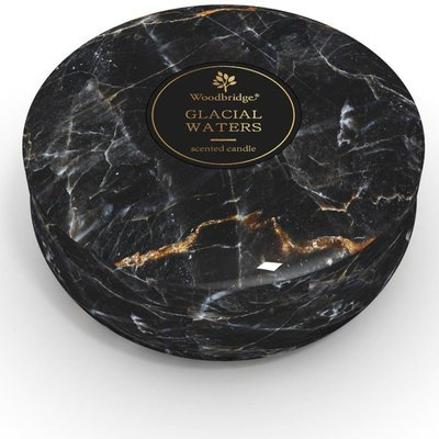 Woodbridge marble scented tin candle 3 wicks 470 g - Glacial Waters