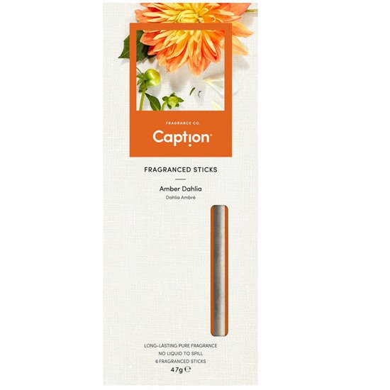 Enviroscent Caption fragrance diffuser sticks 6 pcs - Amber Dahlia