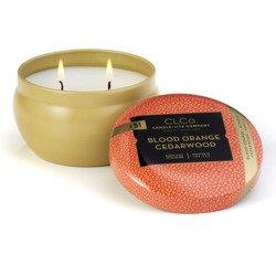 Candle-lite CLCo Candle Jar 6.25 oz luksusowa świeca zapachowa w ozdobnej puszce ~ 30 h - No. 51 Blood Orange Cedarwood