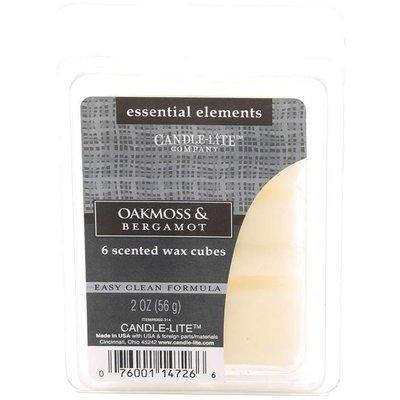 Candle-lite Essential Elements Wax Cubes 2 oz wosk zapachowy sojowy z olejkami eterycznymi 56 g ~ 10 h - Oakmoss & Bergamot