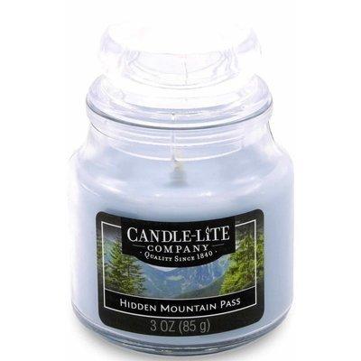 Candle-lite Everyday mała świeca zapachowa w szkle z pokrywką 95/60 mm 85 g - Hidden Mountain Pass
