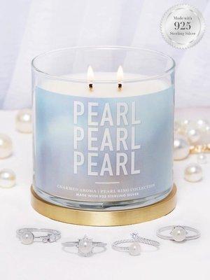 Charmed Aroma sojowa świeca zapachowa z biżuterią 12 oz 340 g Pierścionek z perłą - Pearl