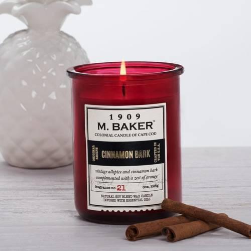 Colonial Candle M. Baker sojowa świeca zapachowa w słoju 8 oz 226 g - Cinnamon Bark
