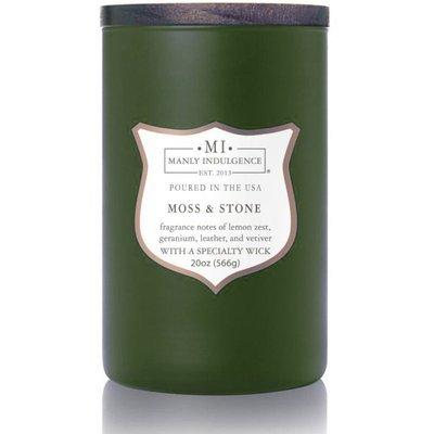 Colonial Candle sojowa świeca zapachowa w szkle drewniany knot 20 oz 566 g - Moss & Stone