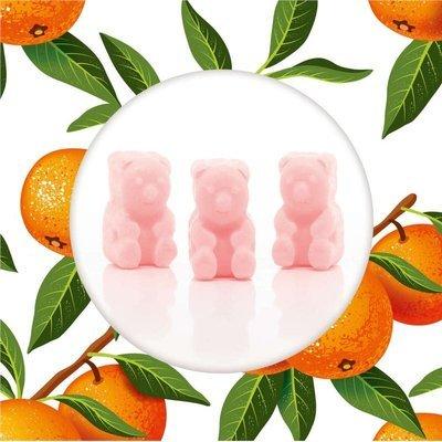 Ted & Friends sojowe woski zapachowe misie 50 g - Sunkissed Clementine
