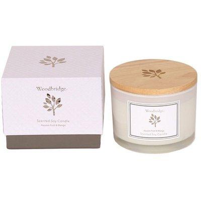 Woodbridge świeca zapachowa sojowa w szkle 3 knoty 370 g pudełko - Passion Fruit & Mango