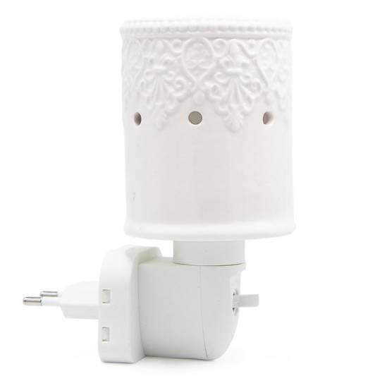 Kominek do wosków zapachowych elektryczny do gniazdka / kontaktu Paarl - Biały