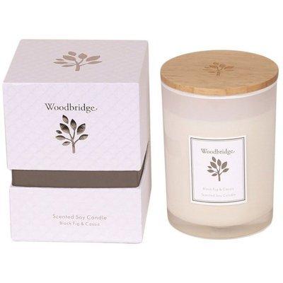 Свеча Woodbridge с ароматом сои в стеклянной коробке 270 г - Cashmere & Lilac
