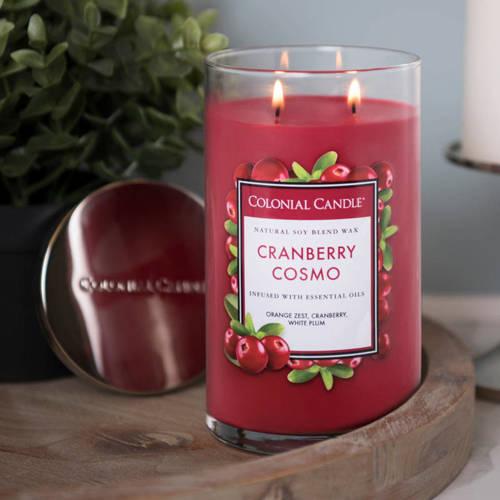 Colonial Candle большая, ароматная соевая свеча в стакане для стакана 18 унций 510 г - Cranberry Cosmo