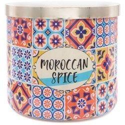 Colonial Candle Luxe sojowa świeca zapachowa w szkle 3 knoty 14.5 oz 411 g - Moroccan Spice