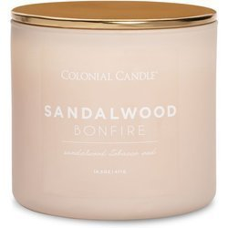 Colonial Candle Pop Of Color sojowa świeca zapachowa w szkle 3 knoty 14.5 oz 411 g - Sandalwood Bonfire