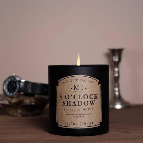 Colonial Candle sojowa świeca zapachowa w szkle 16.5 oz 467 g - 5 o'Clock Shadow